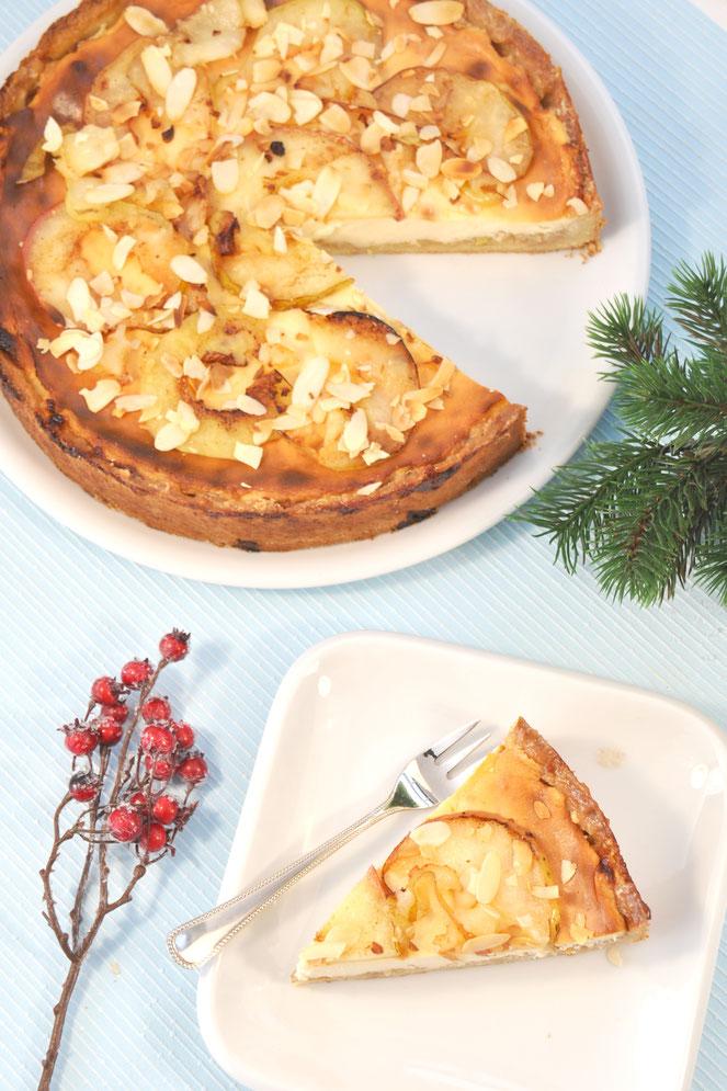 Bratapfel Käsekuchen vegan möglich Käsekuchen zur Weihnachtszeit und Winterzeit aus dem Thermomix