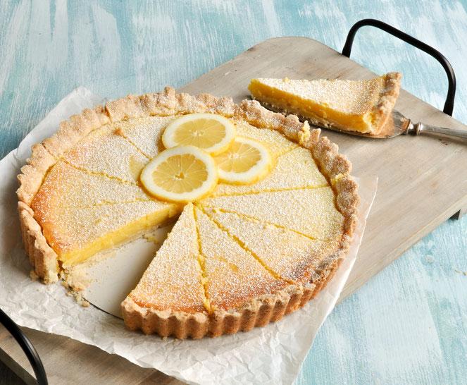 Zitronen Tarte, sommerlicher Kuchen, vegan möglich,  einfaches Rezept, Thermomix