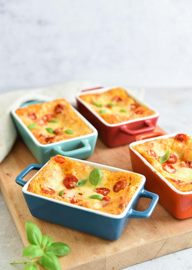 Möhren-Lasagne, vegetarisch, vegan möglich, Thermomix
