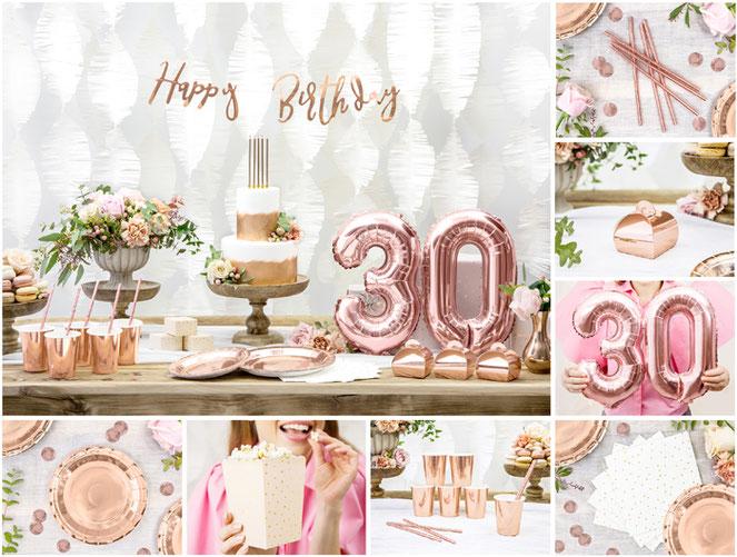 Geburtstagsdeko in rosegold#folienballon rosegold#kunterbunt#wunstorf