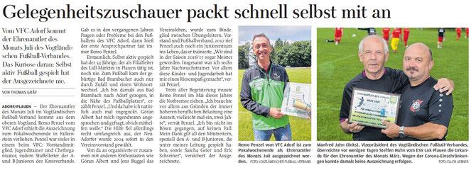 © Freie Presse Oberes Vogtland 17.08.2021