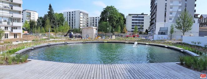 Bassin du quartier Louvois à Vélizy-Villacoublay.