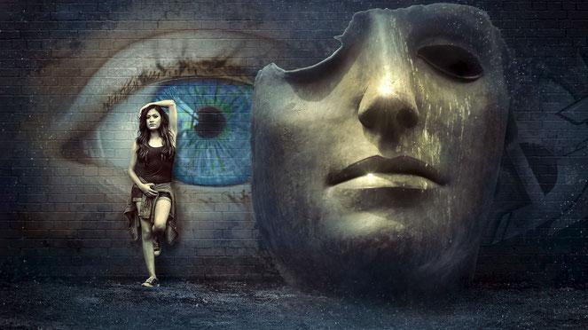Die Maske der starken Frau