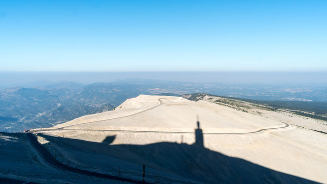 Mont Ventoux Observatory as shadow