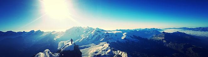 Kein Sieg, doch das Ziel, der Gipfel erreicht - Matterhorn 4478m.ü.M