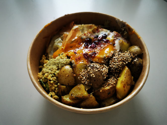 Veganes Essen kann ein Genuss sein! Das Essen von Manjas Cantina.