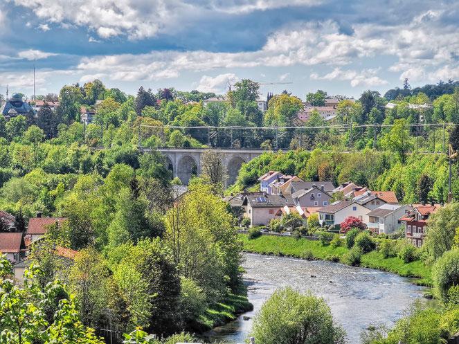 Blick auf den Traunsteiner Viadukt