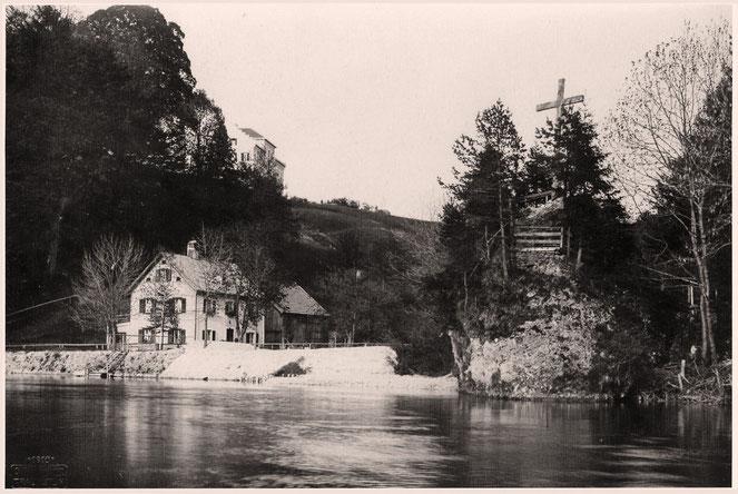 Traunstein und Sparzer Graben 1910 - Foto Grainer