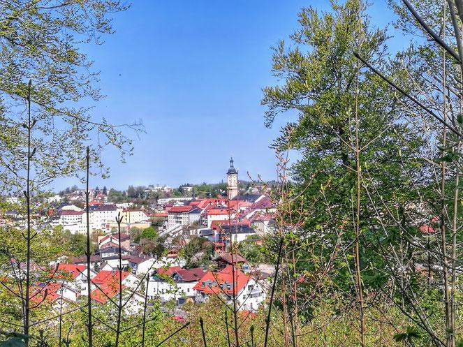 Aussicht auf die Stadt Traunstein