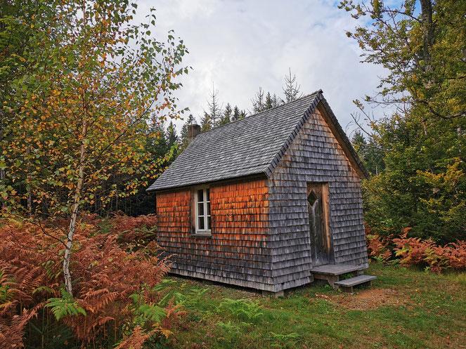 Die Thoreau-Hütte im Wildniscamp am Falkenstein
