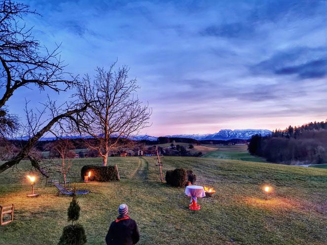 Auch zur kalten Jahreszeit einen Ausflug wert: Der Güßhübel bei Kirchanschöring.