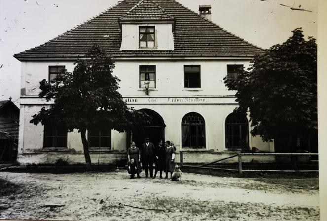 Bahnofsgaststätte 1925. Archiv Heimatverein Kirchanschöring