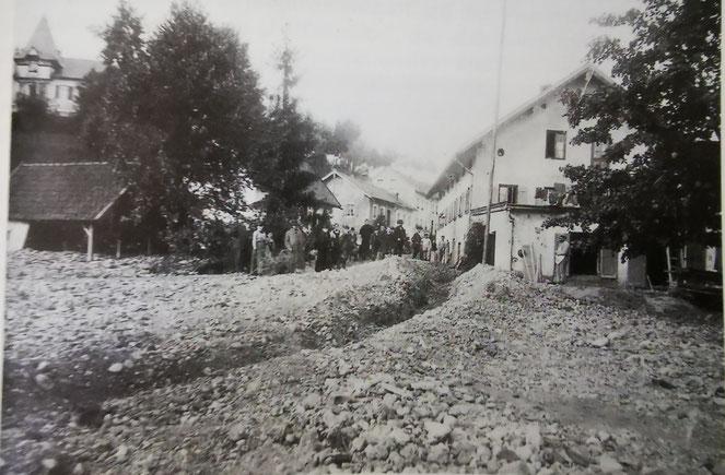 Der ausgeschwemmte Veitsgraben (Nähe heutiger Schießstätte)