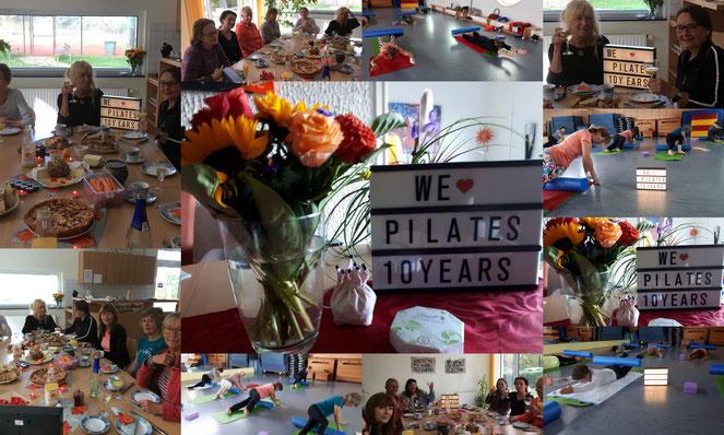 "Foto-Kollage: 10 Jahre ""we like pilates"": Feier im ATV"