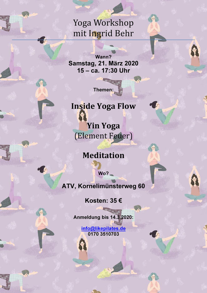 "Plakat Yoga-Workshop ""Inside Yoga Flow"""