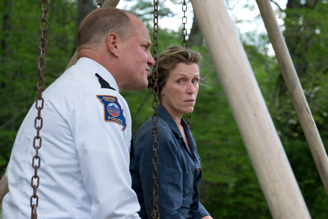 Frances McDormand et Woody Harrelson: la mère courage accuse le chef de la police d'inertie (©20th Century Fox).