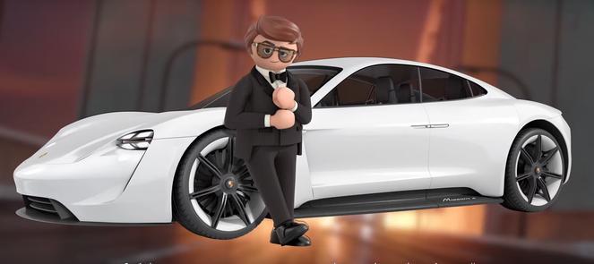 Porsche électrique Playmobil.