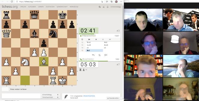 Wie reagiert mein Gegner? Der Videochat verbessert das Online-Spiel-Erlebnis wesentlich.