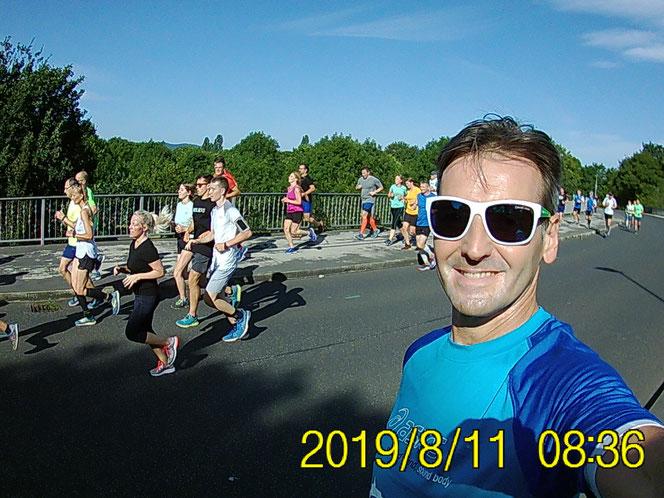 Thomas Bayer auf  dem Weg kurz vor Kassel-Waldau