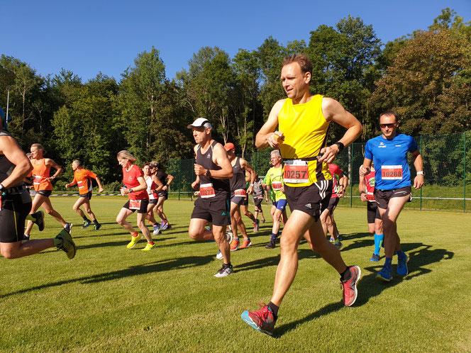 Start der Laufer auf der 21,1 km Strecke am 28.6.2019