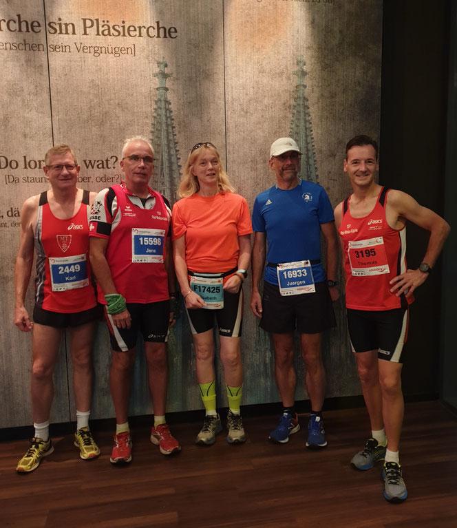 Vor dem Start: Karl Ploch, Jens Nägel, Elisabeth Tertel, Jürgen Tertel, Thomas Bayer (v.l.n.r.)