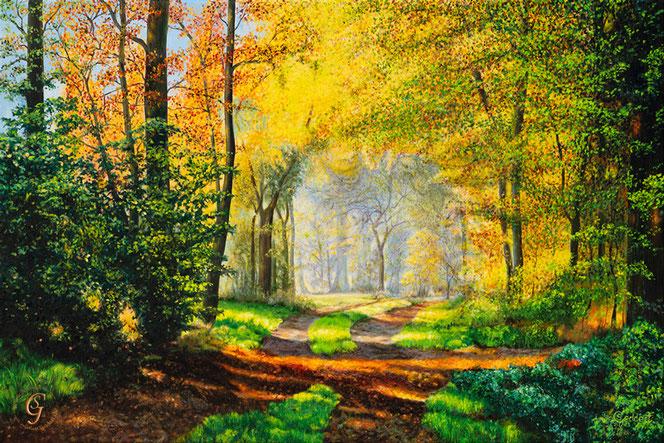 Zauberwald I,  120x80 cm , Öl auf Leinwand,