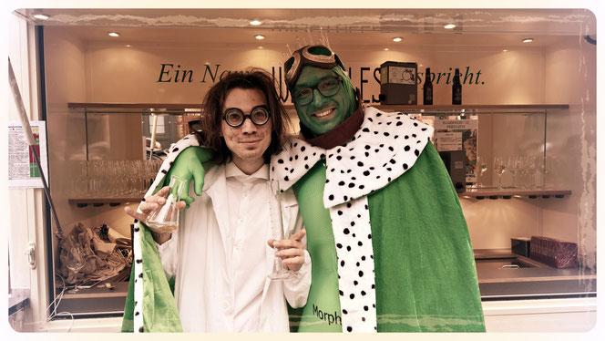Der verrückte Professor mit Froschkönig auf dem Koblenzer Karnevalsumzug 2017