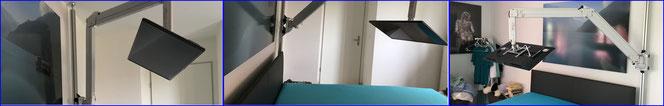 Uniprof Boden-Decken Stange mit Gelenkarm