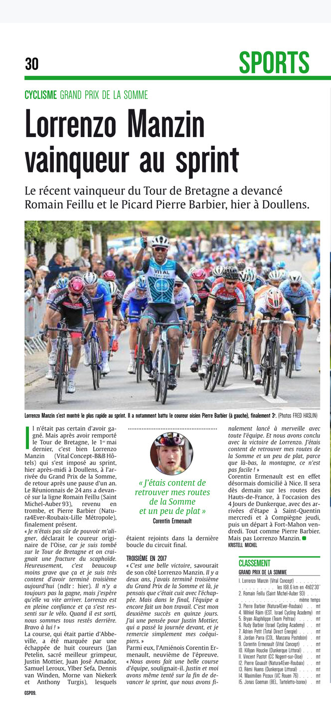 Courrier picard 13 mai 2019