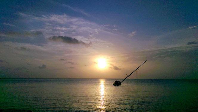 Sonnenuntergang auf Cozumel.