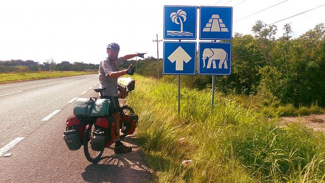 Indien? Nein, kurz nach der Grenze in Belize.