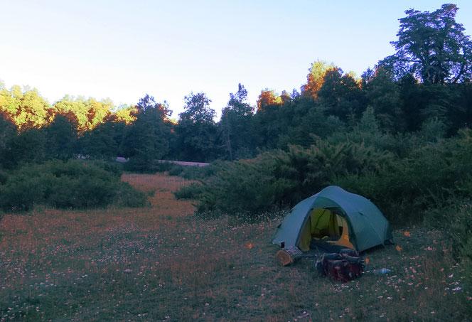 Zelten im Lanin Nationalpark.