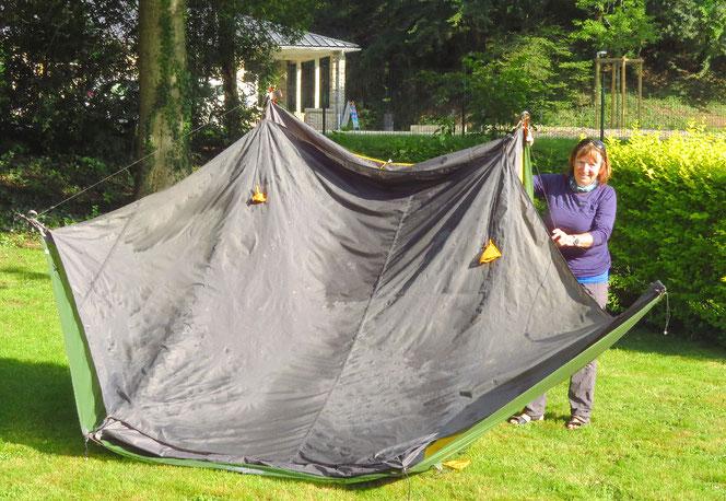 Unser Krake! (einmal mehr Zelt trocknen)