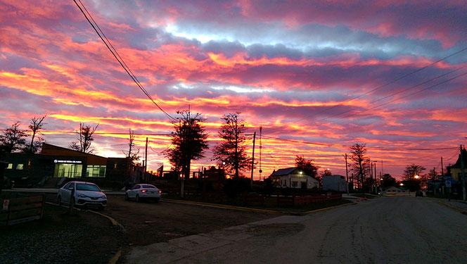 Wunderschöne Morgenstimmung über Tolhuin.
