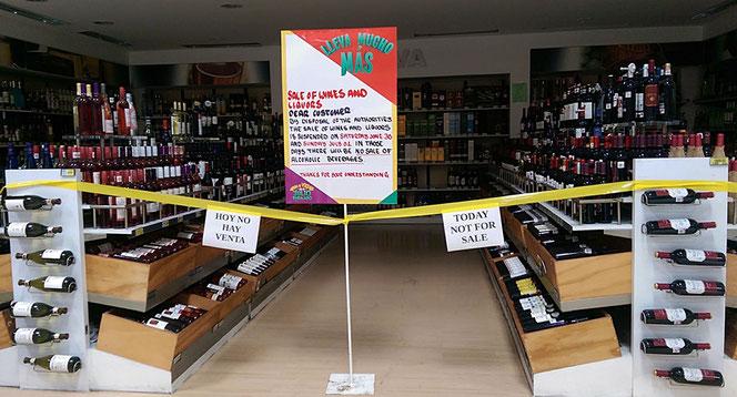 Vor Wahlsonntagen gibt es keinen Alkohol zu kaufen. Haben wir schon in Südamerika erlebt.