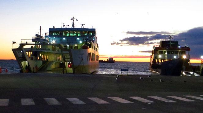 Morgenfähre von Punta Arenas nach Porvenir.
