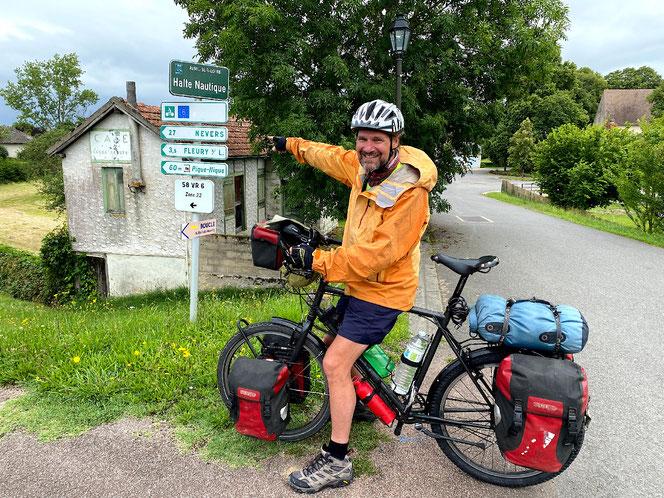 Die Route an der Loire ist bestens ausgeschildert.