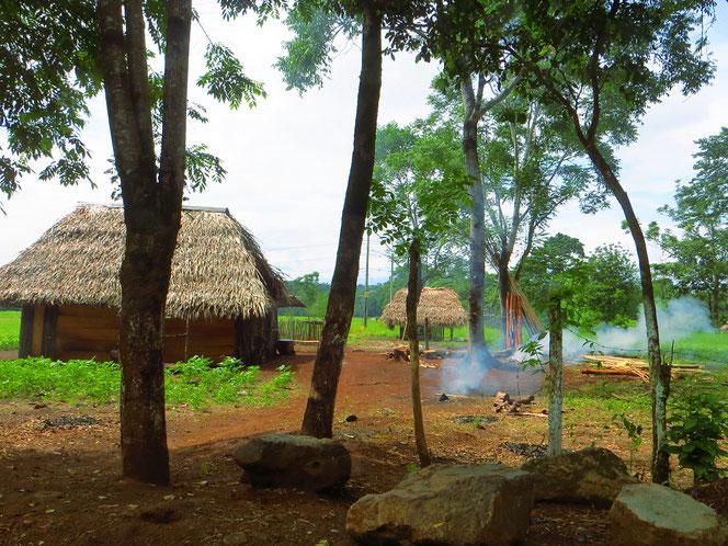 Hier auf dem Land leben die Menschen in sehr einfachen Verhältnissen.