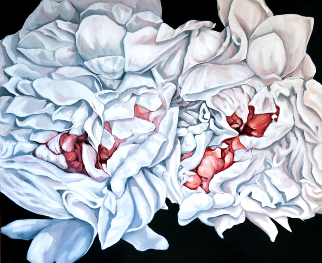 Peonies, oil on canvas, 100x120cm