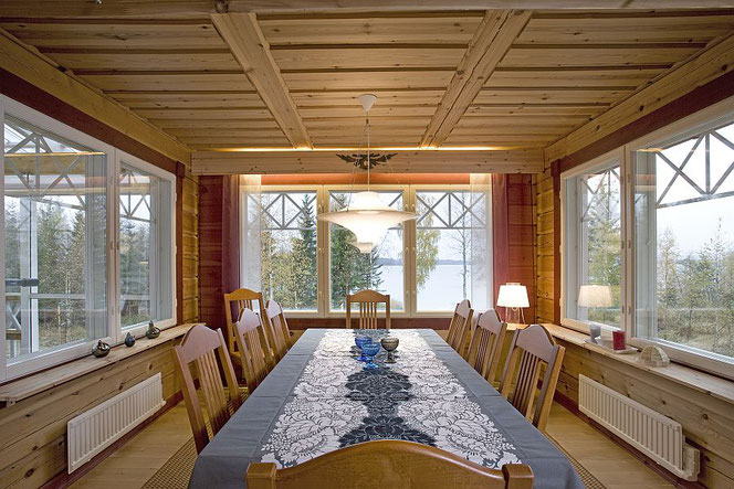 Blockhaus mit Wintergarten  - Holzbau, Bauen, Holzhäuser, Hausbau, Planung, Massivhaus, Wintergarten,  Warmwintergarten