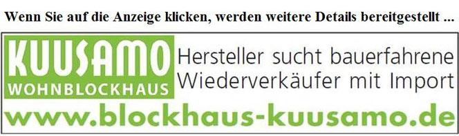 Blockhausbau - Baufirmen als Wiederverkäufer für Blockhäuser zum Wohnen gesucht - Thüringen - Nordrhein Westfalen - Sachsen - Ökologische Bauberatung - Nachhaltige Wohnhäuser in massiver Blockbauweise  - Holzhaus nach Maß - Blockhaus planen und bauen