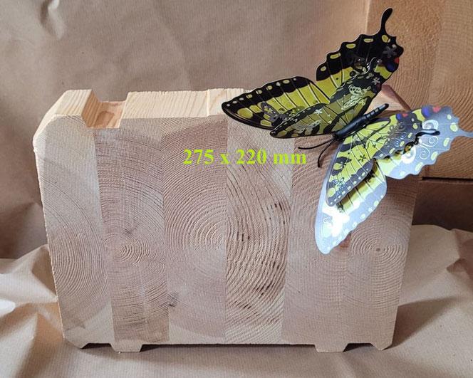 Holzhaus - Blockhaus - Blockhausbau - Holz - Formstabile Lamellenbalken 275x220 mm aus nordfinnischer Kiefer garantieren die optimale Passgenauigkeit der Bauteile und die winddichte Konstruktion NRW  - Köln - Bonn - Essen - Düsseldorf - Dortmund - Münster