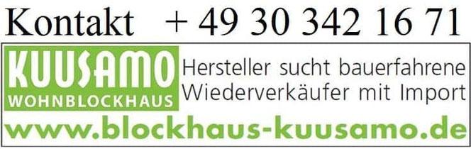 Finnische Hersteller sucht für Holzbausätze  von Wohnblockhäusern Wiederverkäufer  -  Freiburg - Singen - Konstanz - Tuttlingen - Villingen Schwenningen - Bodensee - Friedrichshafen - Balingen - Ravensburg - Neckar -