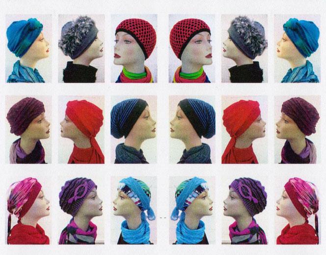 Kopfbedeckungen nach Chemo - Haarersatz bei Chemotherapie Textil