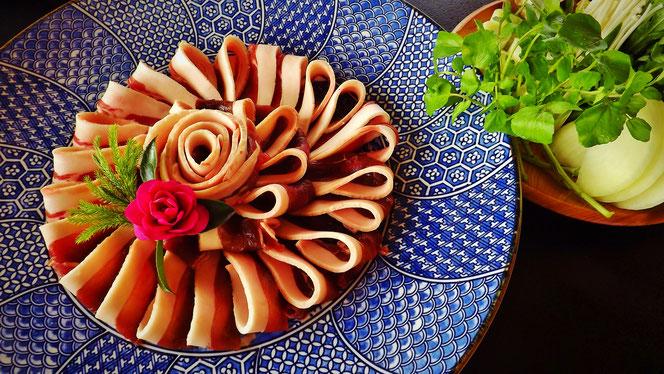 ジビエ料理イノシシいのしし鍋ぼたん鍋恵那中津川付知下呂木曽日本料理美菜ガルテンふるかわ