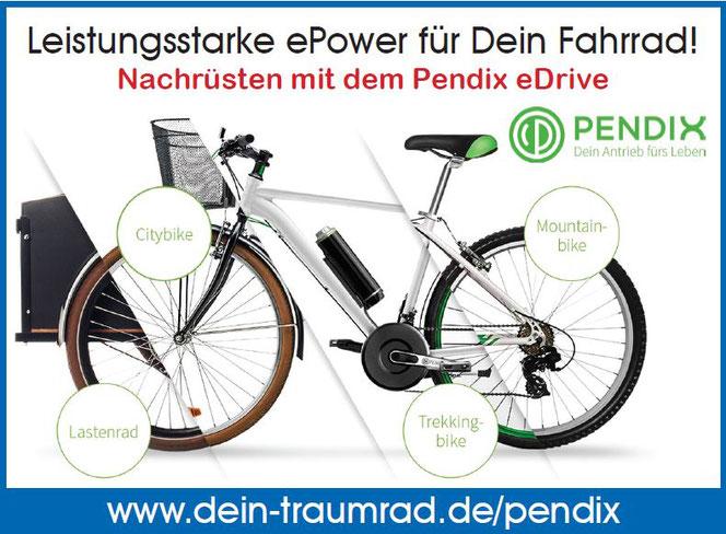 Pendix eDrive Umbauten an (fast) allen Fahrrädern möglich !