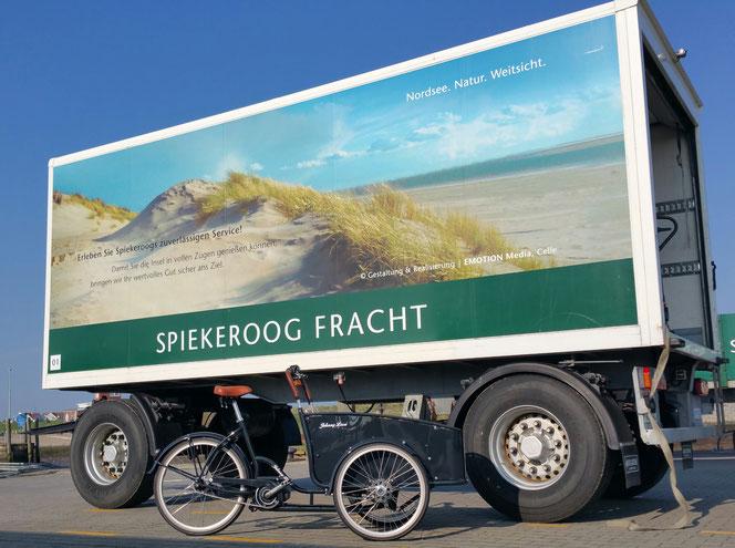 Johnny Loco eCargo Cruiser kurz vor der Verladung zur grünen Insel Spiekeroog