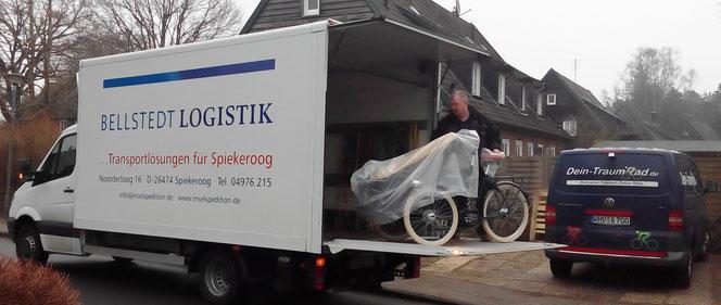 ... und ab nach Spiekeroog; diesmal per Spedition.