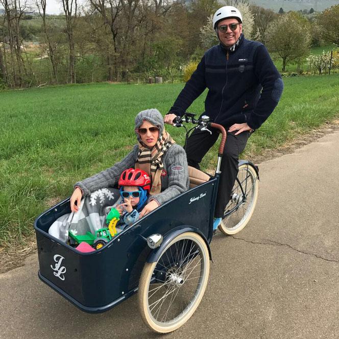 Ausfahrt mit dem Johnny eCargo Cruiser in der Nähe von Weinstadt (bei Stuttgart). Danke für das tolle Foto !