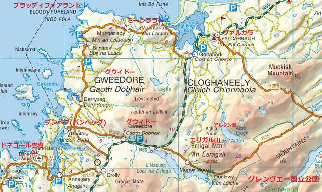 ドニゴール 地図